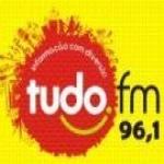 Logo da emissora Rádio Tudo 96.1 FM