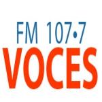 Logo da emissora Radio Voces 107.7 FM