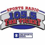 Logo da emissora Radio WYKT The Ticket 105.5 FM