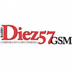 Logo da emissora Radio Diez57 GSM 105.7 FM