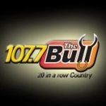 Logo da emissora WIBL 107.7 FM The Bull