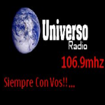Logo da emissora Universo 106.9 FM