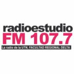 Logo da emissora Radio Estudio 107.7 FM