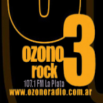 Logo da emissora Radio Ozono Rock 107.1 FM