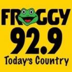 Logo da emissora KFGY 92.9 FM Froggy