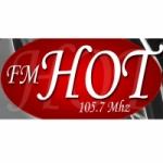 Logo da emissora Radio Hot 105.7 FM