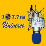 Logo da emissora Radio Universo 107.7 FM