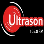 Logo da emissora Radio Ultrason 105.8 FM