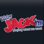 Logo da emissora KFMB 100.7 FM Jack