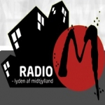 Logo da emissora Radio M 105.8 FM