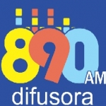 Logo da emissora Rádio Difusora 890 AM