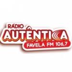 Logo da emissora R�dio Aut�ntica Favela 106.7 FM