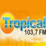 Logo da emissora Rádio Jovem Tropical 103.7 FM