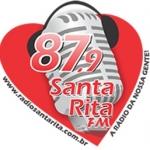 Logo da emissora R�dio Santa Rita 87.9 FM