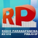 Logo da emissora Rádio Paranapanema 610 AM