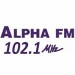 Logo da emissora R�dio Alpha 102.1 FM