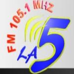 Logo da emissora Radio La Cinco 105.1 FM
