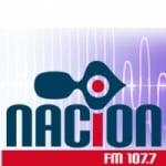 Logo da emissora Radio Nación 107.7 FM
