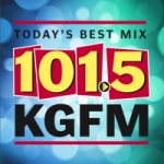 Logo da emissora Radio KGFM 101.5 FM