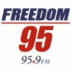 Logo da emissora Radio WFDM Freedom 95 95.9 FM