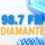 Logo da emissora Radio Diamante 98.7 FM