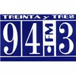 Logo da emissora Radio Treinta y Tres 94.3 FM