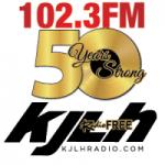 Logo da emissora Radio KJLH 102.3 FM