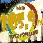 Logo da emissora R�dio Pedra Escondida 105.9 FM