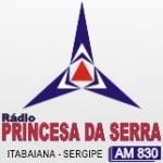 Logo da emissora Rádio Princesa da Serra 830 AM