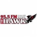 Logo da emissora Radio WAWK 95.5 FM The Hawk FM