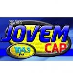Logo da emissora Rádio Jovem Cap 104.9 FM