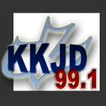 Logo da emissora Radio KKJD 99.3 FM
