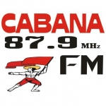 Logo da emissora Rádio Cabana 87.9 FM