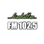 Logo da emissora Manhattan 102.5 FM