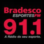 Logo da emissora Rádio Bradesco Esportes 91.1 FM