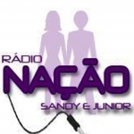 Logo da emissora Rádio Nação Sandy e Junior