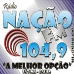 Logo da emissora R�dio Na��o 104.9 FM