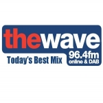 Logo da emissora Radio The Wave 96.4 FM