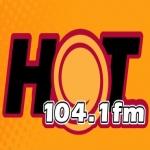 Logo da emissora Hot 104.1 FM