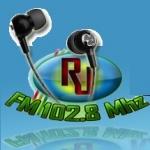 Logo da emissora R�dio Jovem Bissau 102.8 FM