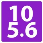 Logo da emissora Radio Russian Wave 105.6 FM