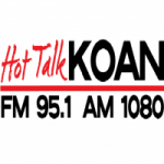 Logo da emissora Hot Talk KOAN 95.1 FM