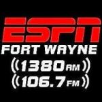Logo da emissora Radio WKJG ESPN 106.7 FM 1380 AM
