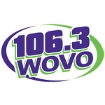 Logo da emissora Radio WOVO 106.3 FM