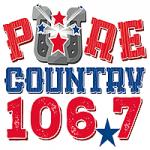 Logo da emissora Radio KSIG Pure Country 106.7 FM