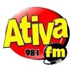 Logo da emissora R�dio Ativa 98.1 FM