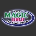 Logo da emissora WMGU 106.9 FM