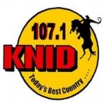 Logo da emissora KNID 107.1 FM