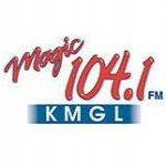 Logo da emissora KMGL 104.1 FM