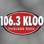 Logo da emissora KLOO 106.3 FM